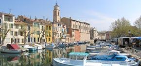 port, bateaux, étang de berre